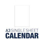 A3 Single Sheet Calendar